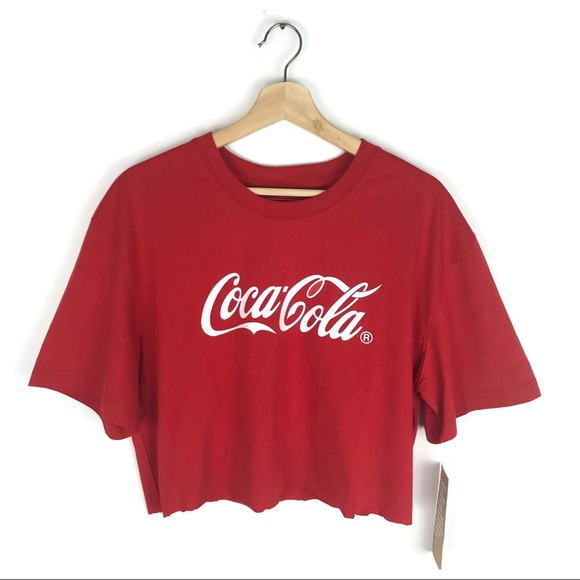ab1084eeffd9e Cropped top Coca Cola Logo t shirt red white